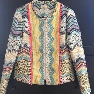 Boston Proper/Molly Bracken Multi Color Blazer